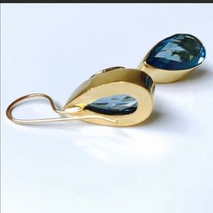 Sitara Collections Jewelry - Gold plated Hydro Quartz Earrings